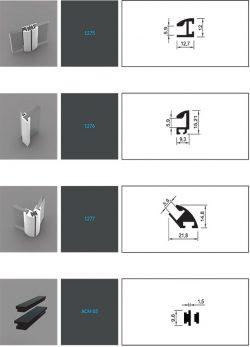 قطعات و لوازم جانبی پروفیل آلومینیوم آلوکورکس - Alucorex Aluminium